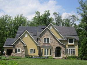residential solar install front